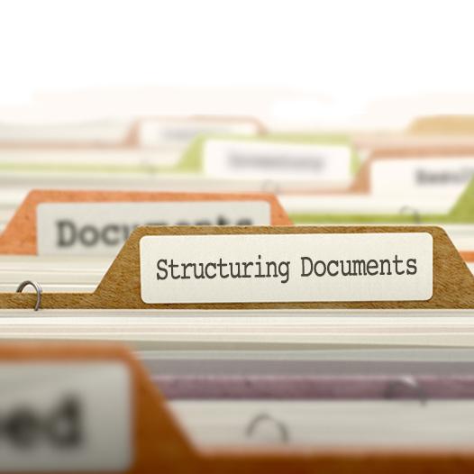 هيكلة وإعداد الوثائق