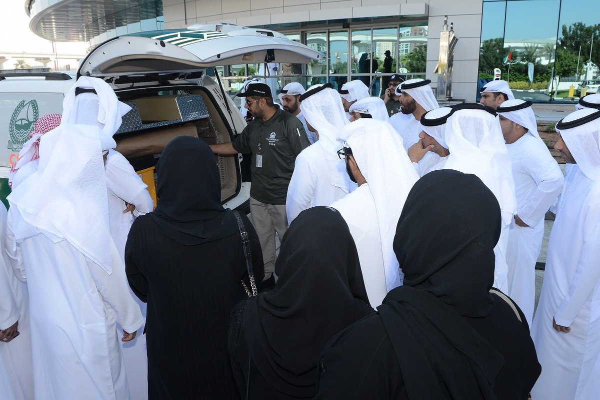A Delegation from Rabdan Academy Looked at the Forensic Evidence Technologies available at Dubai Police