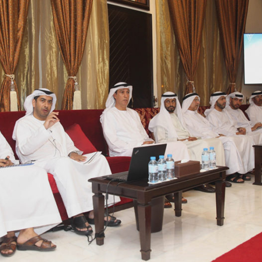 "Al Bateen Majlis organized a lecture called ""Rabdan Academy's Role in Supporting and Promoting National Resilience"""