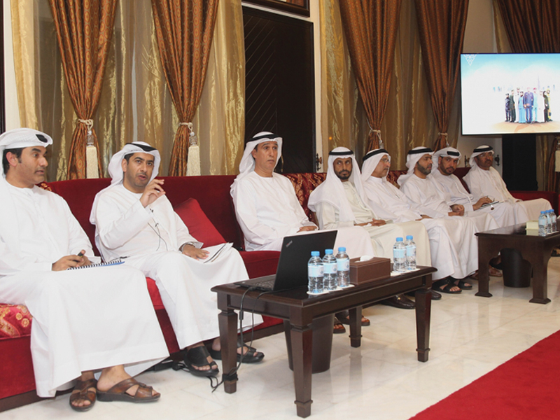 """Al Bateen Majlis organized a lecture called """"Rabdan Academy's Role in Supporting and Promoting National Resilience"""""""