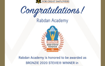 Rabdan Academy Honored As Bronze Stevie® Award Winner In 2020 Stevie Awards For Great Employers