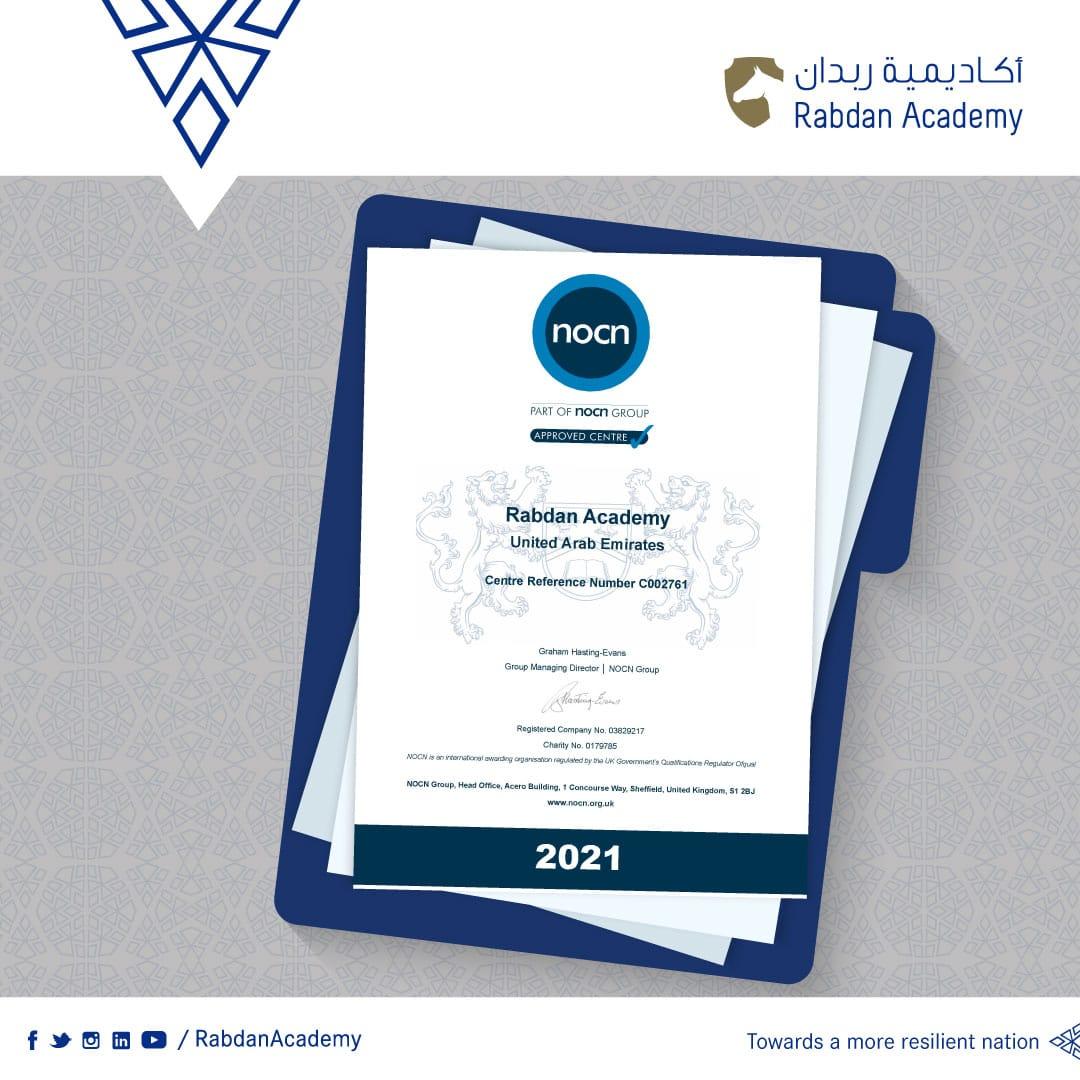 Rabdan Academy receiving recognition from NOCN