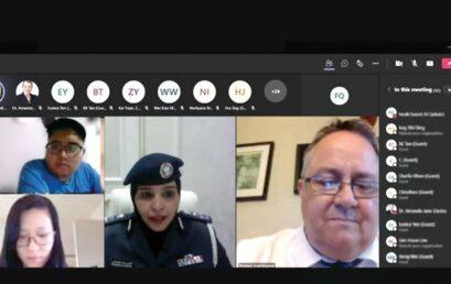بالتعاون مع أكاديمية ربدان شرطة أبوظبي تنقل خبراتها في البصمة الوراثية لنظيرتها السنغافورية